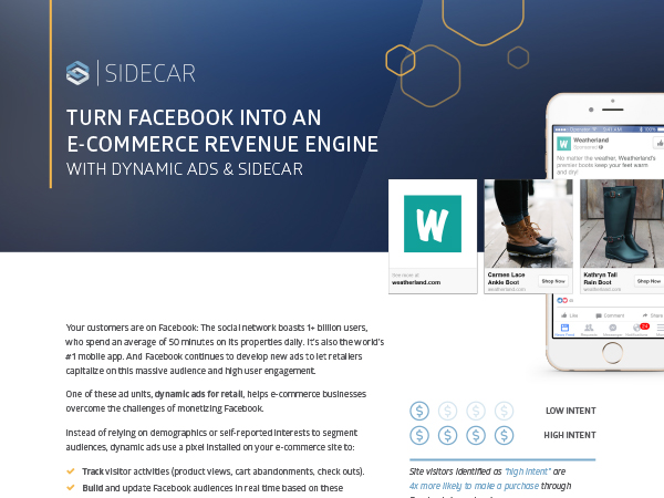 Sidecar for Facebook dynamic ads